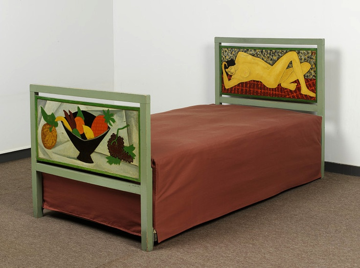Bed designed by Roger Fry, 1915. Victoria and Albert Museum.