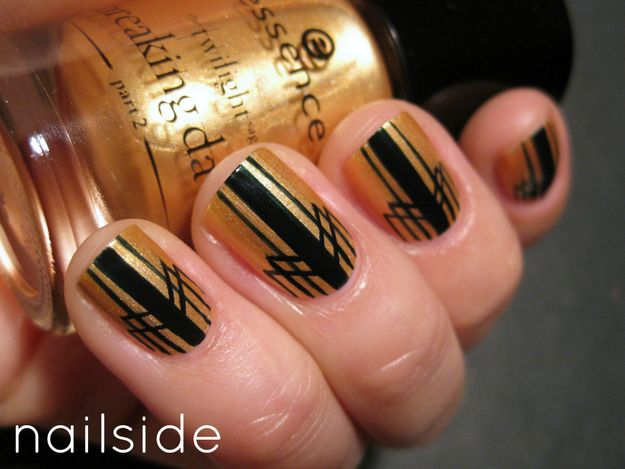 <b>Time to break out the gold nail polish and Scotch tape.</b> Even if the <i>Great Gatsby</i> movie leaves you feeling empty inside, at least your nails will be gilded.