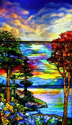 glass painting landscape