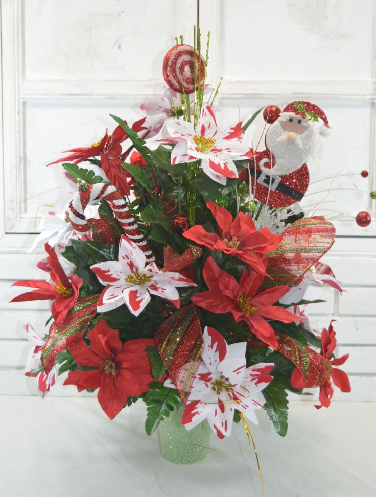 1000 Images About Christmas Cone Vase Arrangement On