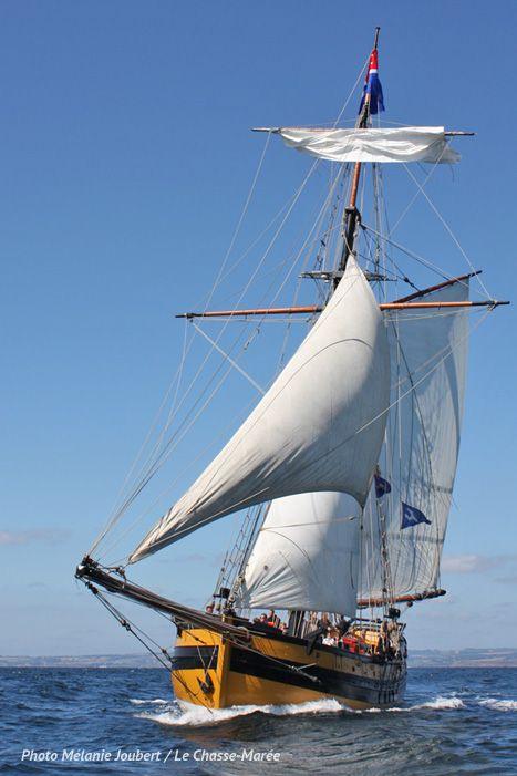 Le Renard | Réplique d'un cotre corsaire de Saint-Malo. | A retrouver sur : http://www.chasse-maree.com/numeros-51-a-100/1074-chasse-maree-n-74.html