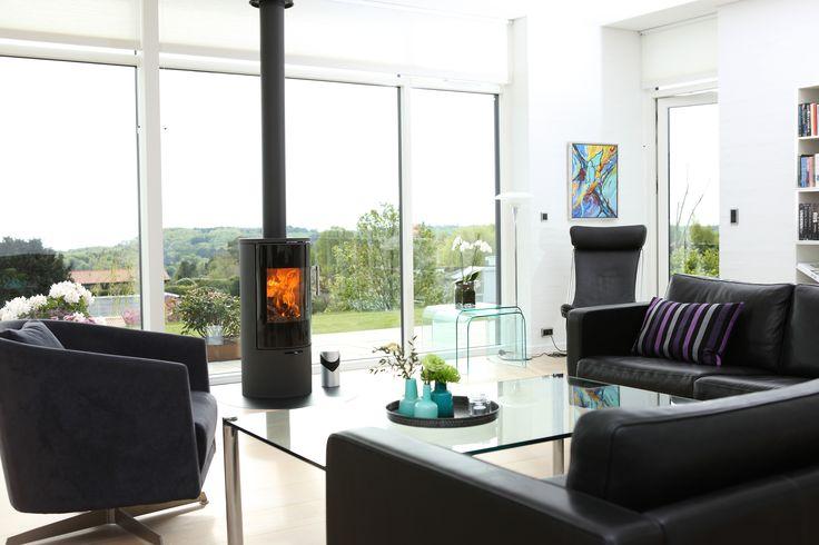 Beautiful stove in a danish home #Rais #Danish #Design