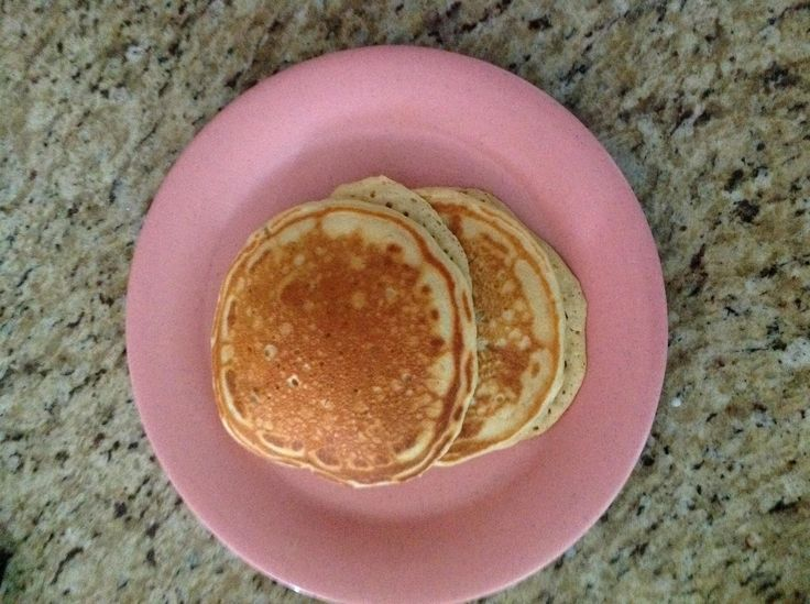 Pancakes from scratch - they are delicious!!! Made them this morning. Made with baking soda instead of powder which is great because I never have baking powder. I threw in some chocolate chips. They are great <3