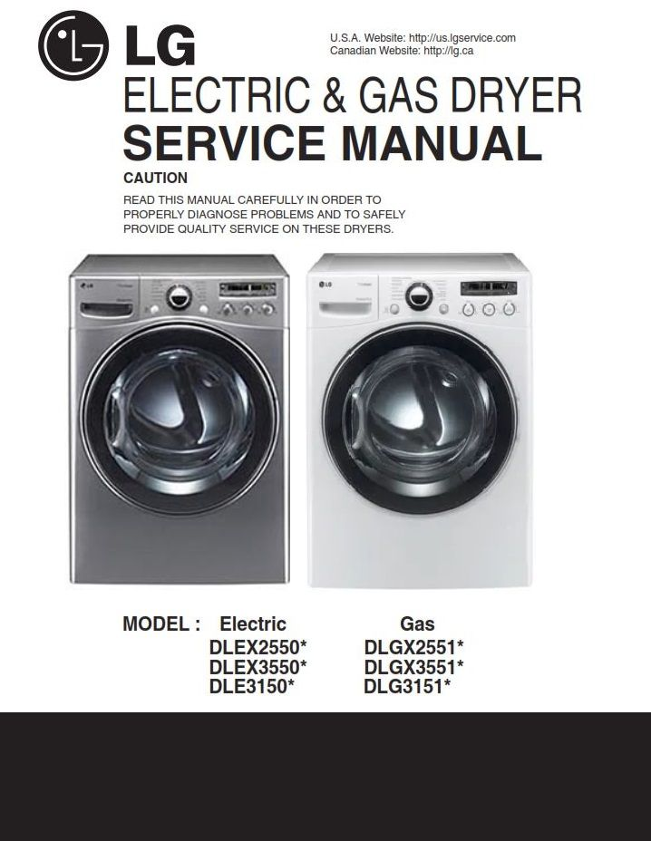 Lg Dlgx3551v Dlgx3551w Dryer Service Manual And Troubleshooting Guide Appliance Repair Shop Manual Dryer