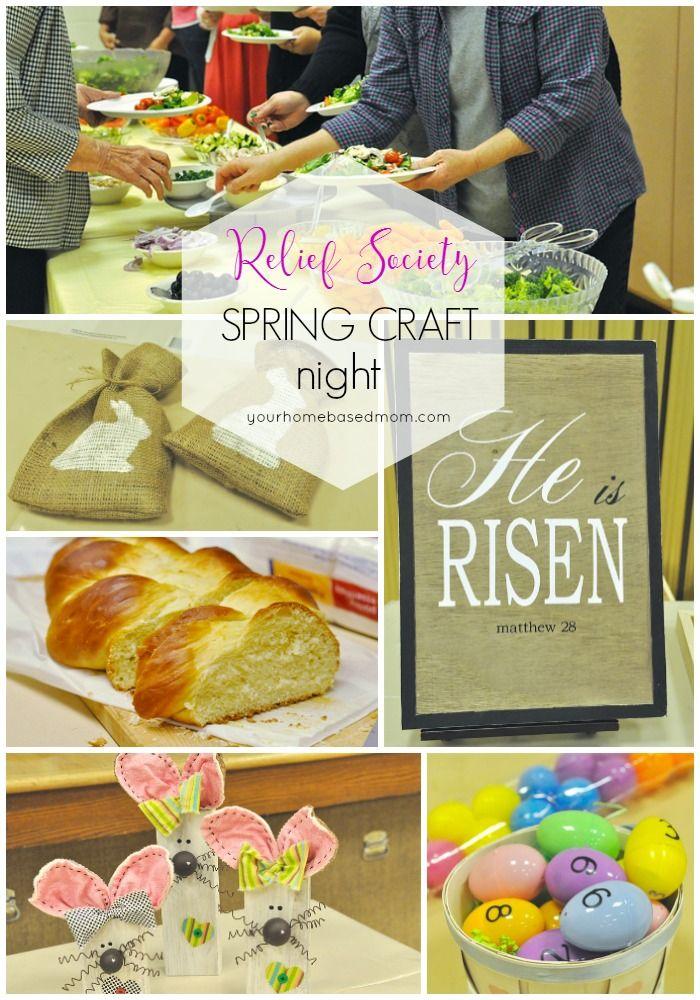 Relief Society Spring Craft Night h