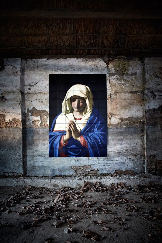 IXXI wall decoration made with Da Sassoferrato's painting, 'The virgin in prayer'. The IXXI in this example will cost $221.65 (140 x 200 cm). #ixxi #ixxidesign
