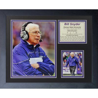 Legends Never Die Bill Snyder Framed Memorabilia