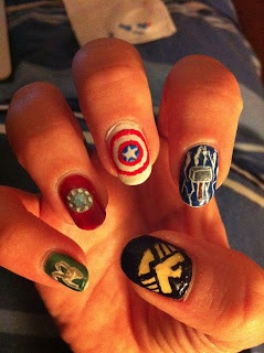 Avengers nails #nerd #nails #nailart