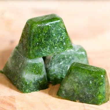 Freeze herbs in ice-cube trays with water or chicken broth for later...