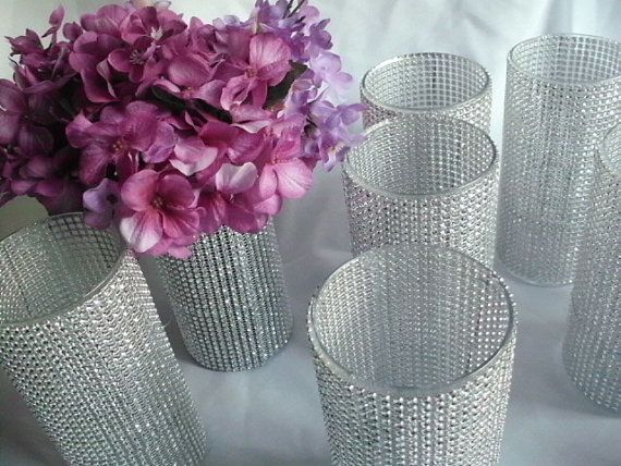 10 BLING Wedding Decorating Vases  Bouquet Holders by PartyBling, $75.00