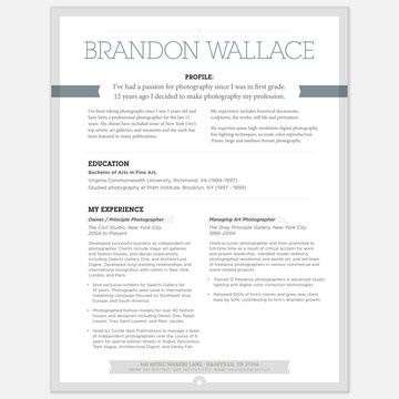 Perfect Resume Layout Idea