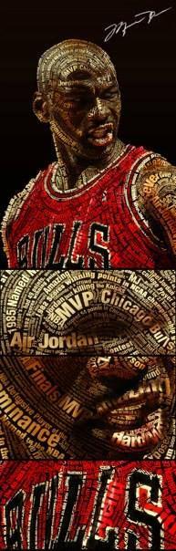 Michael Jordan #Bulls #NBA #Typographic