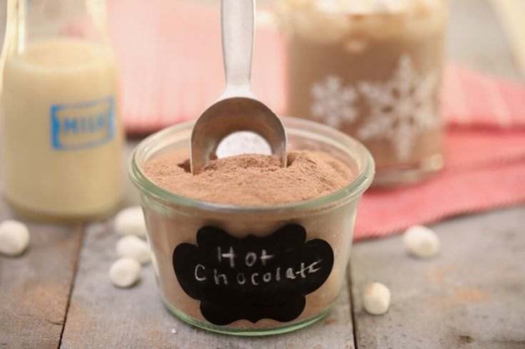 How to make Hot Chocolate Mix - it's inexpensive to make and works as a great Holiday gift.