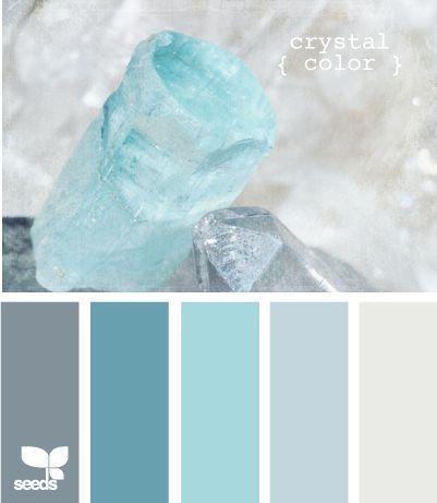                                                            J'aime le bleu frais pour la salle de bain.