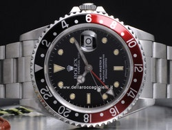 Rolex GMT Master II - Ref. 16710 - Cassa in acciaio 40mm con vetro zaffiro e ghiera rosso nera - Quadrante nero - Bracciale Oyster in acciaio - Movimento automatico