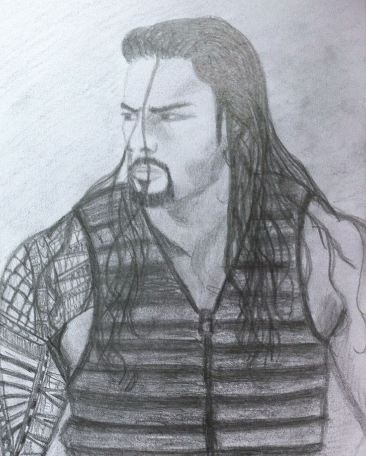 how to draw wwe superstars step by step