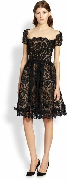 black lace dress, floral