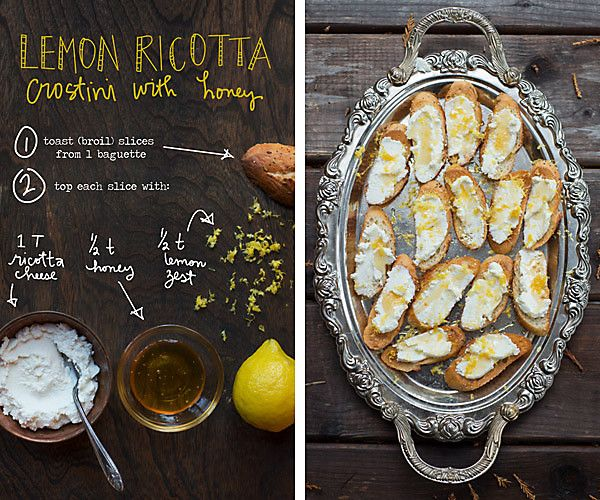 This Lemon Ricotta Crostini with Honey from The Forest Feast is about to become our new go-to snack for lazy Sundays in.