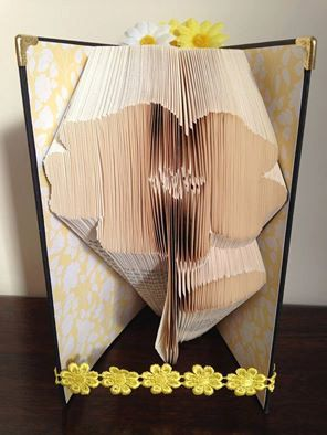 Flower Folded Book Art **Pattern**  PDF Book Folding Book Origami free instructions/ tutorial