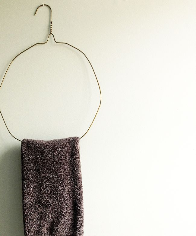 diy wire hanger / towel holder