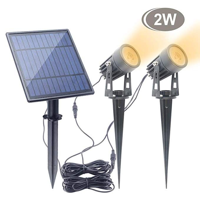Led Solar Spotlights 2w Aponuo Led Solar Powered Landscape Lights Low Voltage Ip65 Waterproof 16 4ft Cable Auto Landscape Lighting Outdoor Lighting Downlights