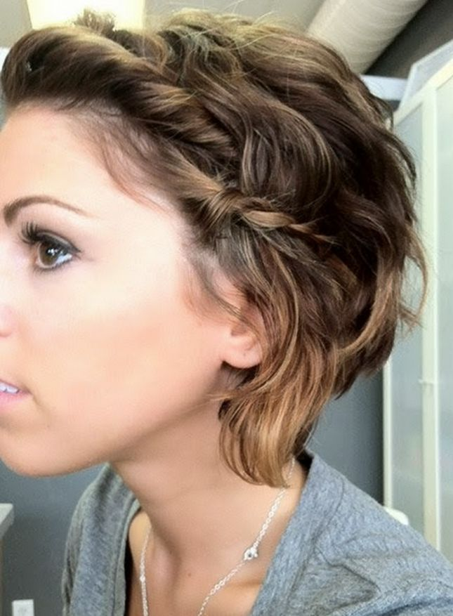 Twists and Braids: Running late? No worries, you could finish this look in the car! Just twist the hair closest to your face, and stick in a tiny bobby pin.