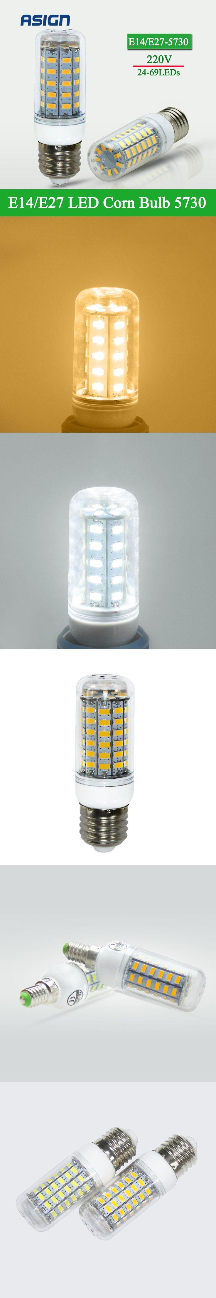 E27 Bulb SMD 5730 E14 LED Lamp LED Lights Corn Led Bulb 24 36 48 56 69 72Leds Chandelier Candle Lighting Home Decoration $1.95
