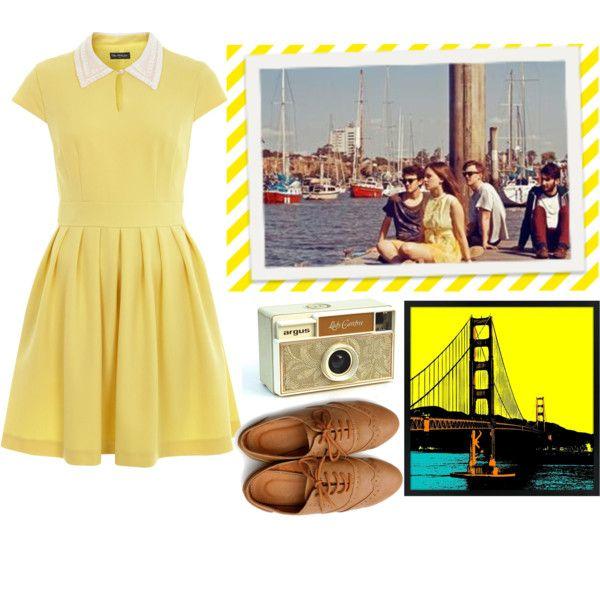 yellow dress 50s vinyl