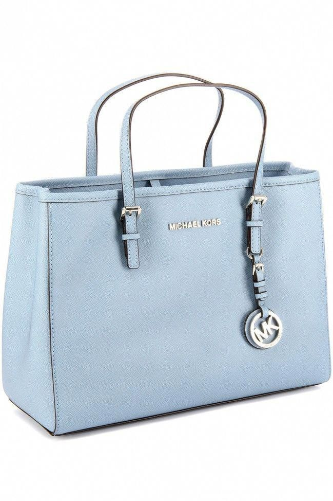 2eabfcae63 MICHAEL KORS JET SET TRAVEL POWDER BLUE  Designerhandbags