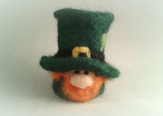 Check out this item in my Etsy shop https://www.etsy.com/uk/listing/263136541/needle-felted-leprechaun-st-patricks-day