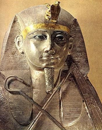 Most Egyptian funerary masks are made of solid gold, but in 1939, archaeologist, Pierre Montet, discovered the tomb of Pharaoh Psusennes, & his entire sarcophagus is pure silver, the only one ever discovered. Its discovery had little fan fare because it was the eve of World War II, & Egyptologists didn't want it to fall into enemy hands. The discovery is revered to be equal to the discovery of King Tut's tomb in 1922, but most of the world is unaware of its existence.