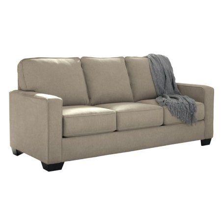 Ashley Zeb Full Sleeper Sofa in Quartz - Walmart.com