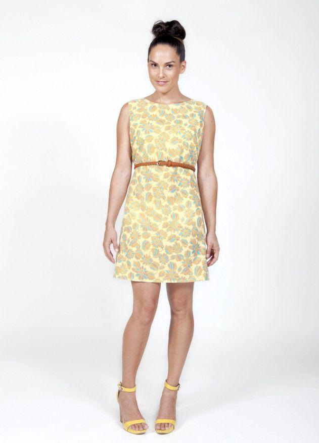 Gratis Schnittmuster Etuikleid für Damen ❤ mit Anleitung ❤ Mehrgrössenschnitt US 8 - 14 ❤ Retro-Etui-Kleid zum selber nähen ✂ Jetzt Nähtalente.de besuchen ✂