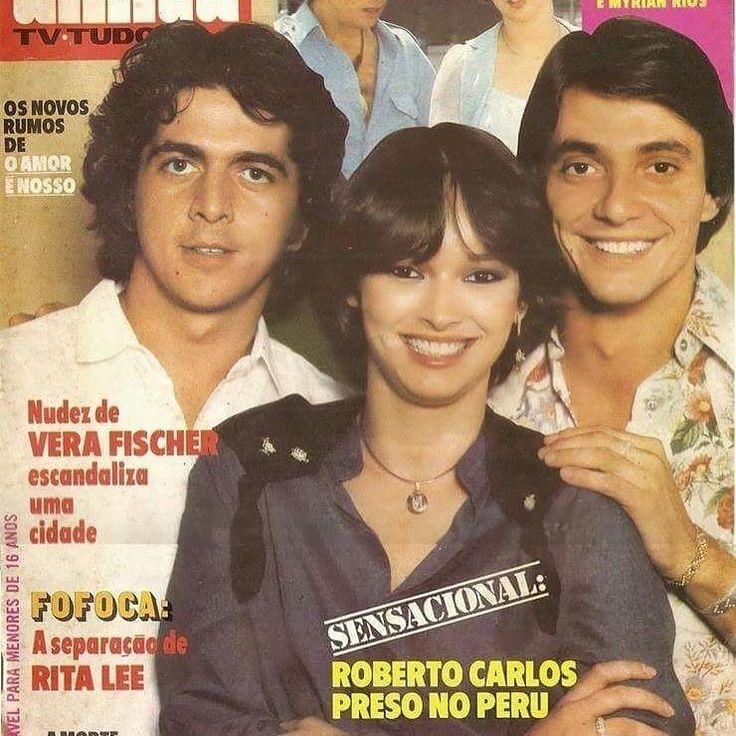 """regram @myrianrios Celebrando meus 40 anos de carreira uma foto da novela """" O Amor  é nosso"""" com os atores #fabiojunior é #stepannercessian #familia #myrianrios #amor #coração #carreira #40anos"""