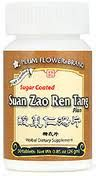 Suan Zoa Ren Tang Pian is a herbal supplement designed for insomnia caused by stress and anxiety. Daily stress can cause the nervous system to be exhausted and prevent restful sleep. Suan Zoa Ren Tang Pian is used to induce normal sleep with the feeling of being refreshed and rejuvenated upon awakening.