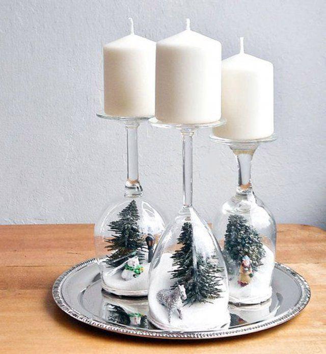 Décoration de Noël DIY : des bougeoirs boule à neige - Cosmopolitan.fr