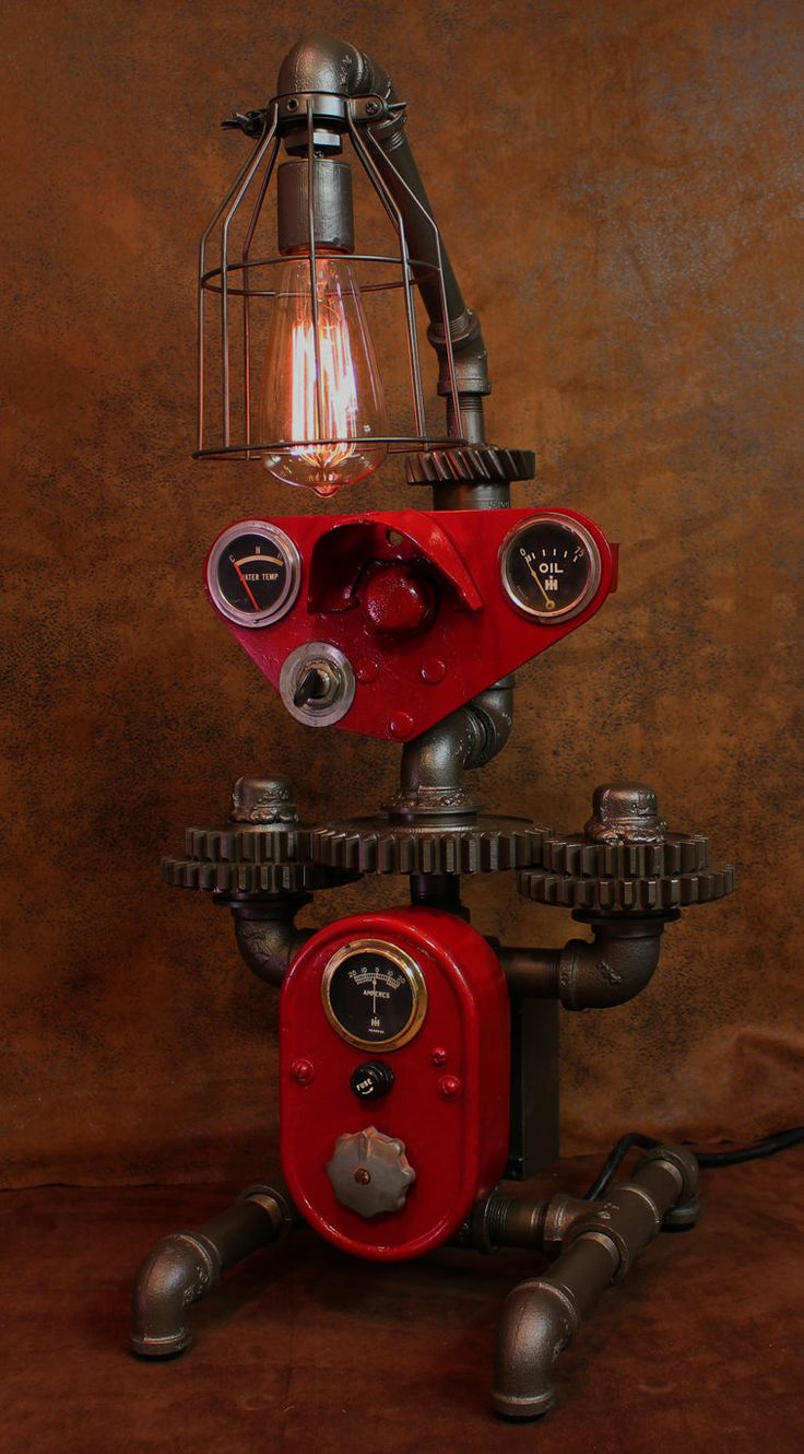 Industrial Instrument Panel : Best images about machine age lamps on pinterest