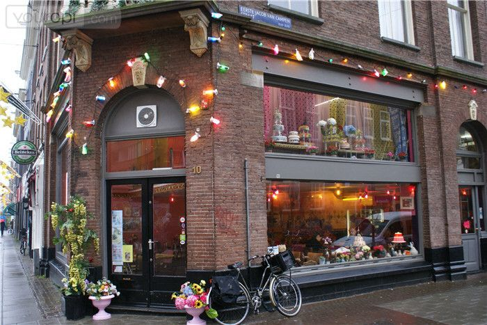 De taart van mijn tante!  A great cake haven, they also have great high tea and of course coffee!  Address: Ferdinand Bolstraat 10  at Amsterdam