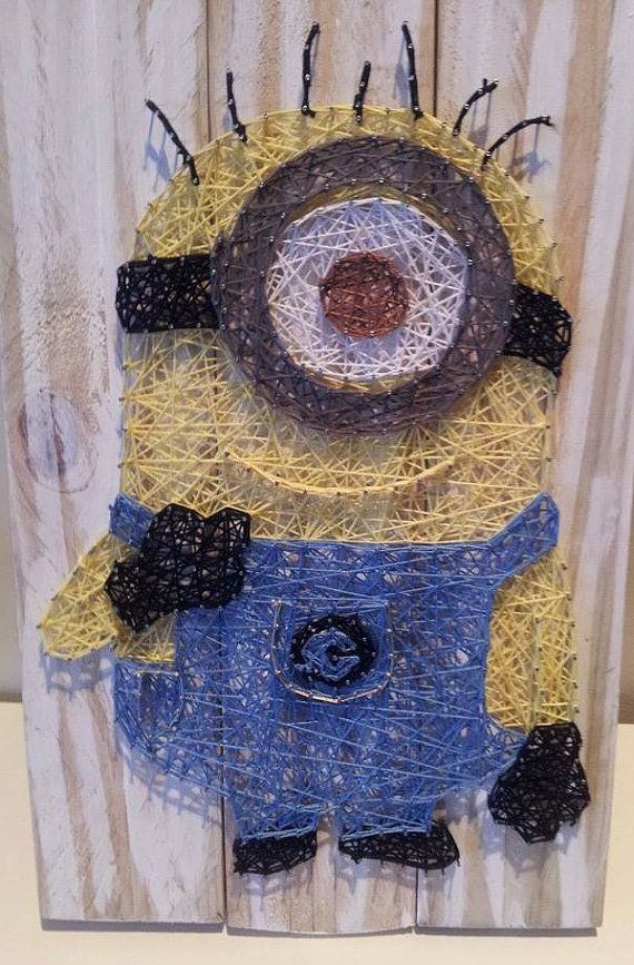 Hey, I found this really awesome Etsy listing at https://www.etsy.com/listing/225295888/minion-string-art