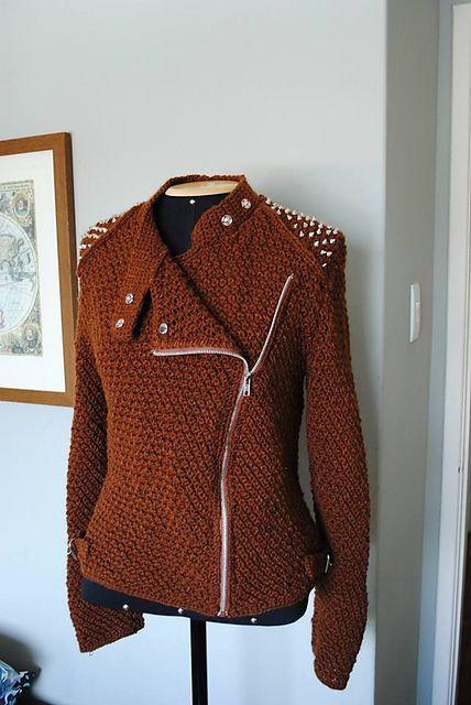 Ravelry: biker jacket pattern by Crestina Consorti