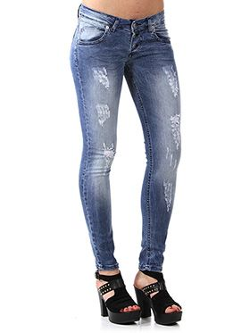 JEANS SKINNY FIT CON ABRASIONI