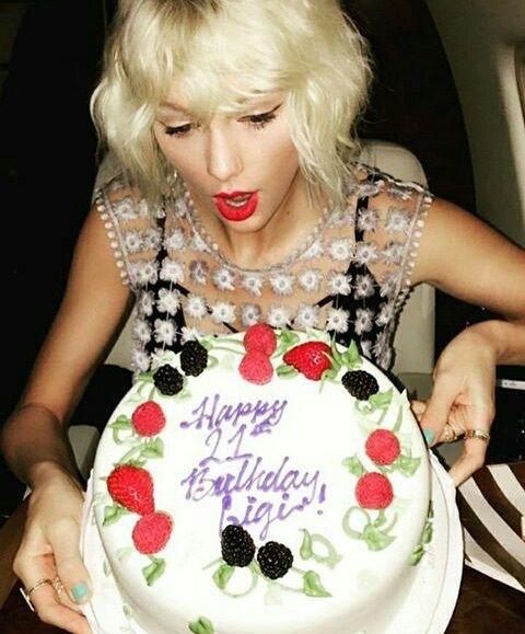 Taylor Swift, gigi hadid, and birthday image