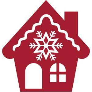 Christmas snowflake house