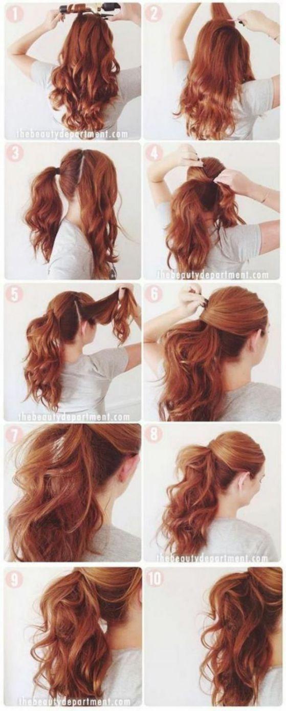peinado rizado sencillo