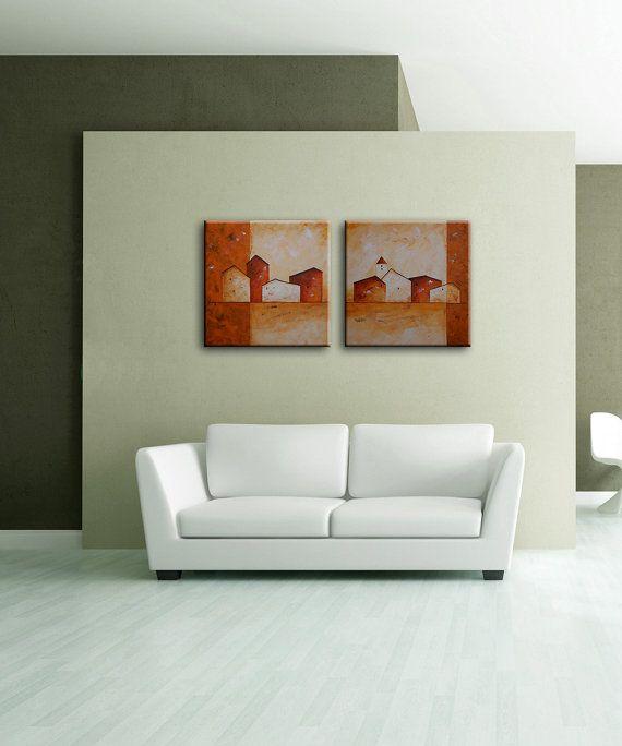 Abstracto pintura arte de acrílico de la pared por EditVorosArt