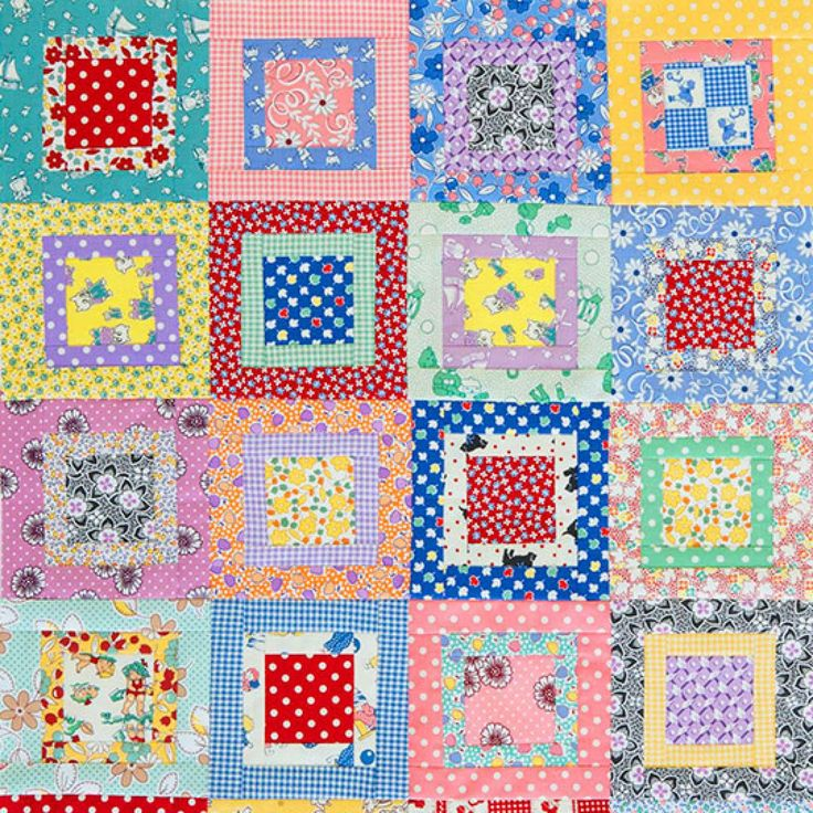 Square Quilt Patterns Free : 17 best images about A - Quilt - Square in a Square on Pinterest Fat quarters, Free pattern ...