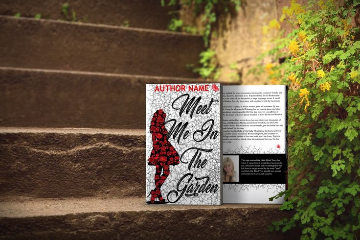 Meet Me In The Garden- Print Predesigned book cover www.dropdeaddesigns.com  #bookcovers #custombook #ilovebooks #bookstagram #indieauthor #indiewriter #iwrite