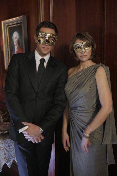 "Vivian Volkoff (Lauren Cohan) and Chuck Bartowski (Zachary Levi) in Chuck (2007) ""Chuck Versus The Masquerade"""