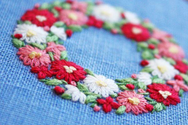 Virág Koszorúk hímzés | * Lassú élet *