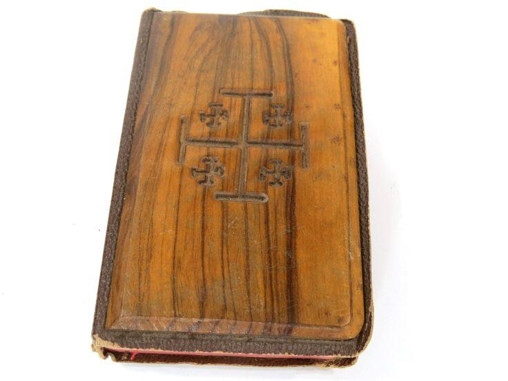 Olive Wood New Testament, Vintage Soldier's Bible 1950s, Jerusalem Bible by UrbanRenewalDesigns on Etsy